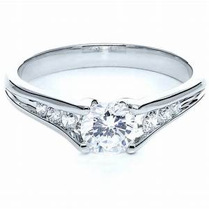 tension set diamond engagement ring 215 With tension set wedding rings