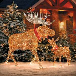 Christmas Moose Decorations Lighted
