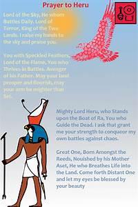 Prayer To Heru Check Out My Facebook Page  Neferkara  For