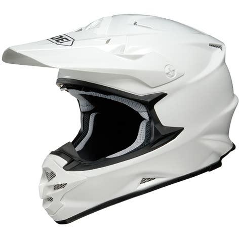 white motocross helmet shoei vfxw helmet white gloss dirtbikexpress