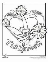 Coloring Pages Tinkerbell Disney Flower Fairies sketch template