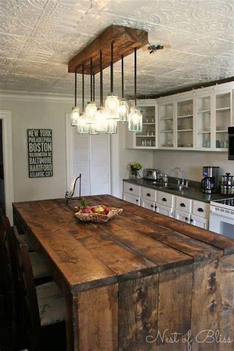diy rustic kitchen island 30 rustic diy kitchen island ideas 6889