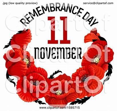 Poppy Remembrance Flower Illustration Vector Royalty Clipart