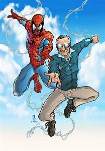 Spidey and Stan Lee print colored by Dany-Morales on ...