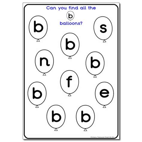 letter b worksheets letter b balloon activity sheet phonics resources 22774   9ede171db435c8abe1605656d0a739dd