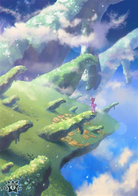 anime island down floating island of hasteless giants by e x p i e on deviantart