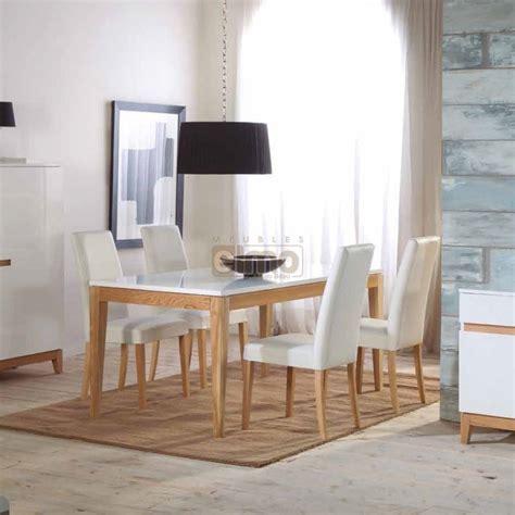 Ensemble Table Et Chaise De Salle A Manger Ensemble Repas Table Salle 224 Manger 160cm Chaises Cuir