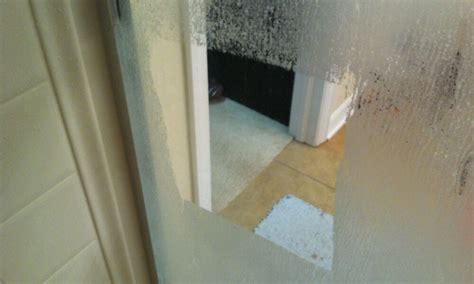 sos  glass shower doors   attacked  hard
