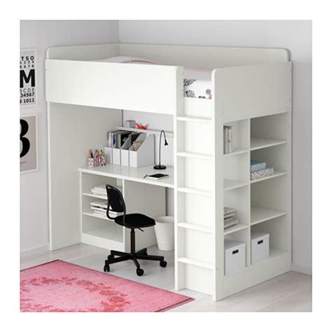 Bunk Bed Desk Combo Ikea by Stuva Loft Bed Combo W 2 Shlvs 3 Shlvs White 207x99x193 Cm