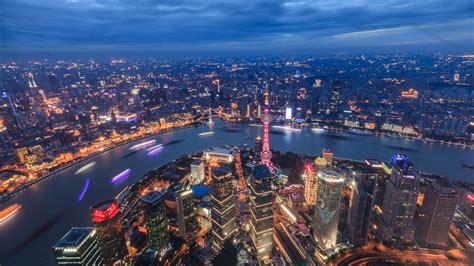 上海外滩夜景高清城市风景电脑桌面壁纸图片大全_桌面壁纸下载_四季图片