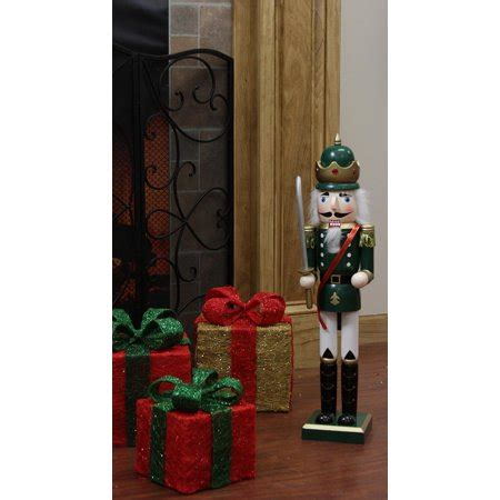 decorative green king wooden christmas nutcracker