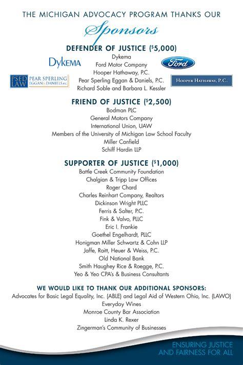 michigan advocacy programs  anniversary celebration