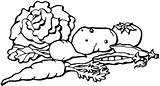 Vegetables Drawing Line Clip Library Cliparts Clipart sketch template
