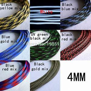 100m Good Quality 4mm Sheathing Auto Wire Harnessing Braided Cable Sleeving