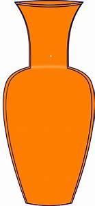 Orange Vase Clip Art at Clker.com - vector clip art online ...