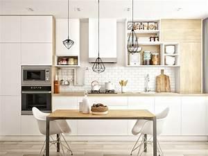 Deco cuisine blanche scandinave de reve for Idee deco cuisine avec meuble design scandinave