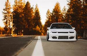 Обои Nissan, Car, Nature, Front, Yellow, Stance, 240SX