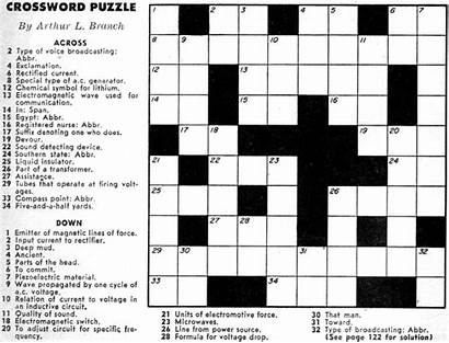 Crossword Puzzles Puzzle September Electronics Adults Games