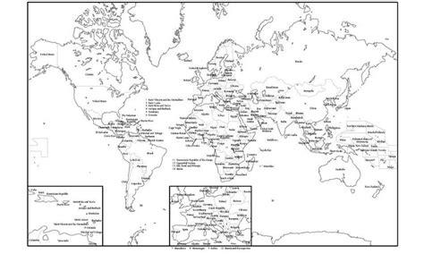 Mapa político del Mundo blanco ypara imprimir Mapa