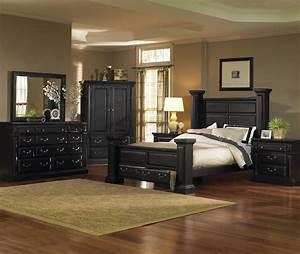 Torreon, Antique, Black, Panel, Bedroom, Set, From, Progressive, Furniture
