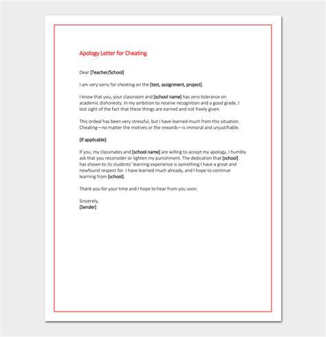 apology letter  teacher   write  format