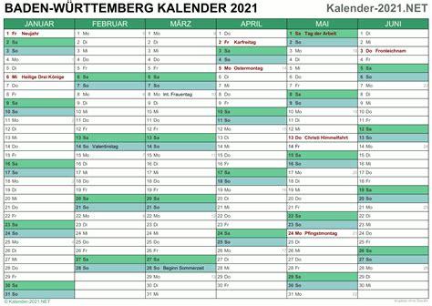 Sie können die kalender auch auf ihrer webseite einbinden oder in ihrer publikation abdrucken. Kalender 2021 Baden-Württemberg