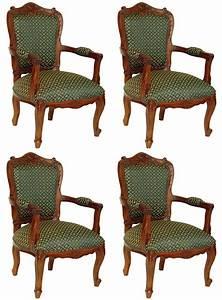 Meuble Style Louis Xv : 4 fauteuils style louis xv en acajou massif meuble de style ~ Dallasstarsshop.com Idées de Décoration