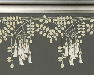 STENCIL for Walls - BORDER Black Locust Flowers - Reusable ...