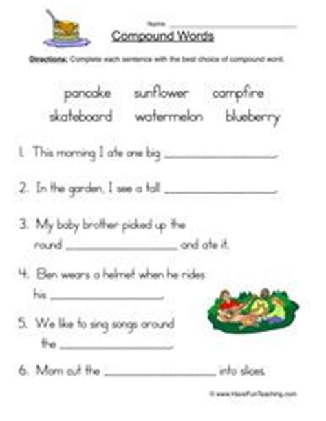 compound words worksheet 3 word work compound words worksheets teaching vocabulary