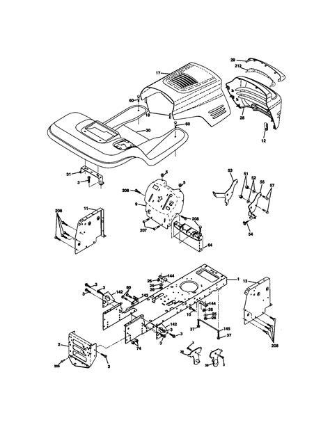 Craftsman Lt1000 Deck Belt Adjustment by 917 270654 Craftsman 15 5 Hp 42 In Mower 6 Speed Lawn Tractor