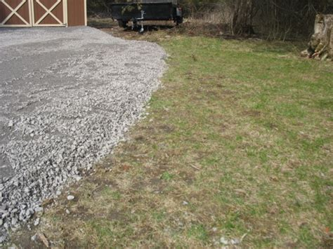 Dumping Driveway Gravel On Grass