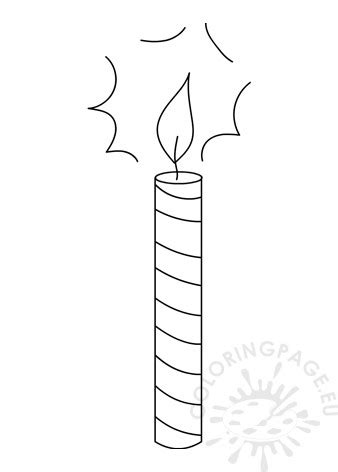 birthday candle template coloring page