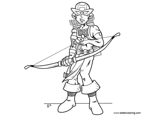 chibi boy hawkeye coloring pages free printable coloring
