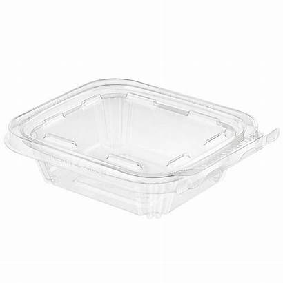 Plastic Clear Oz Tamper Container Hinged Case