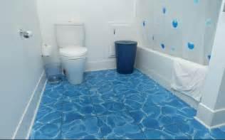 bathroom floor coverings ideas recycled water blue tile bathroom floor options flooring