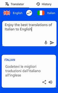 Italian english translator text to speech android for Italian to english document translation