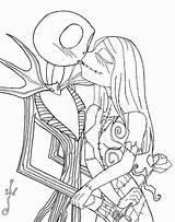 Jack Coloring Skellington Nightmare Before Disney Halloween Sally sketch template