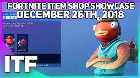 fortnite item shop  fish skin december