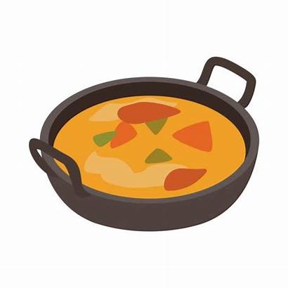 Indian Curry Clip Icon Traditional Dish Vector