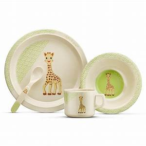 Bambus Geschirr Baby : bamboo kids tableware set sophie la girafe so 39 pure vulli ~ Watch28wear.com Haus und Dekorationen