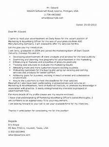 sample advertisement letter smart letters With a cover letter is an advertisement