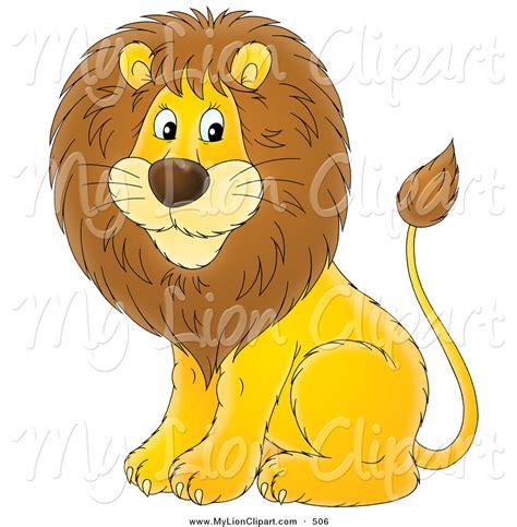 cartoon lion clipart  clip art
