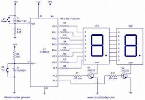 Circuit Panel  Random Number Generator Using 8051