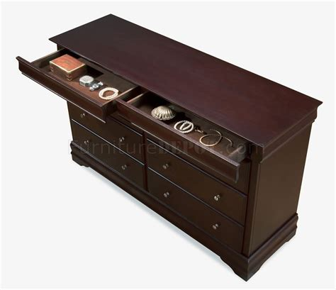 cappuccino color cappuccino color six drawer contemporary dresser