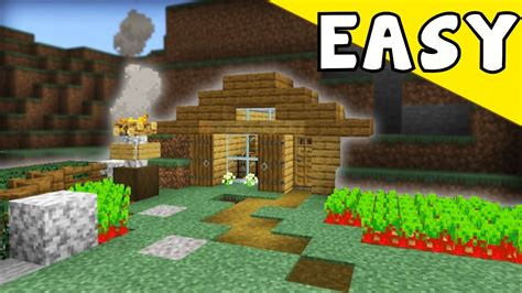 minecraft tutorial     wooden survival cave house youtube