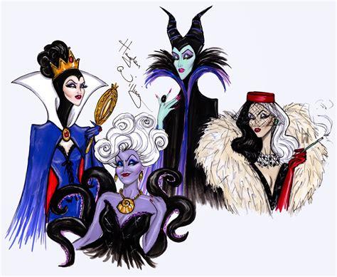 Hayden Williams Fashion Illustrations The Disney Villains