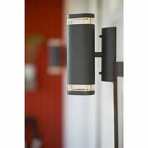 Leroy Merlin Applique Exterieur : applique ext rieure evora gu10 2x35 w anthracite inspire ~ Dailycaller-alerts.com Idées de Décoration