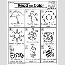 Read And Color! Read The Simple Sentence And Color Correctly!  Kinderland Collaborative
