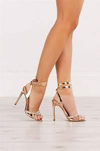Adidas Sandal Size Chart Strappy Metallic Rose Gold Rhinestone Formal Sandal Heels