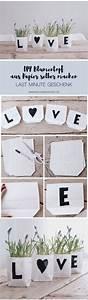 übertöpfe Selber Machen : diy blumentopf selber machen last minute geschenk crafts geschenke basteln geschenke basteln ~ Frokenaadalensverden.com Haus und Dekorationen
